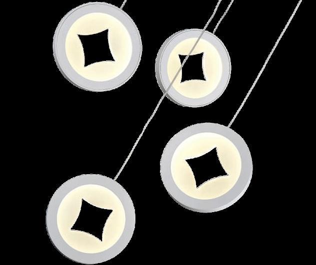 Подвесной интерьерный светильник ГЛОРИЯ с матовым рассеивателем